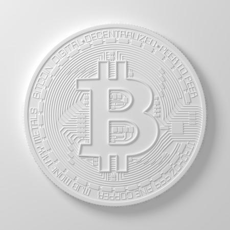 White Bitcoin. Reklamní fotografie