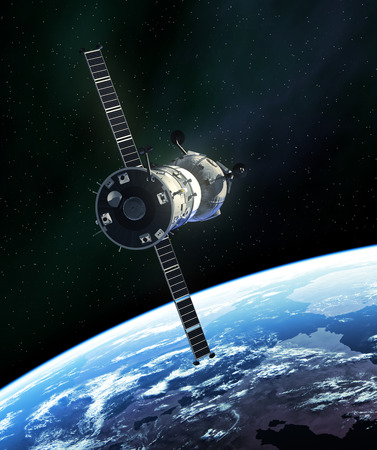 Russian Spacecraft In Outer Space