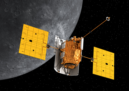 space station: Interplanetary Space Station Orbiting Mercury