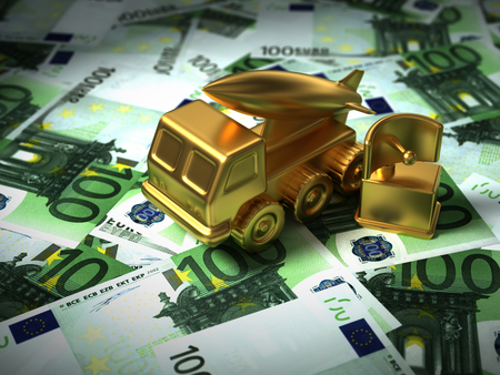 Gold Radar And Missile System On The Euro Money