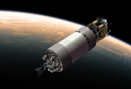 Crew Exploration Vehicle In Outer Space