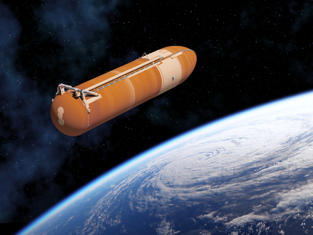 Space Shuttle External Tank In Outer Space