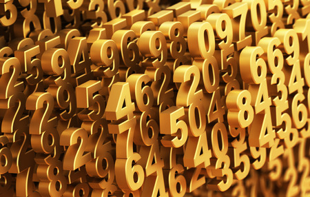 Close-up On A Digital Matrix Consisting Of Golden Numbers
