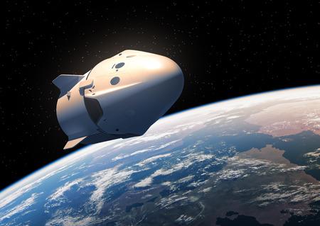 Eerste commerciële ruimtevaartuig in een baan in de ruimte
