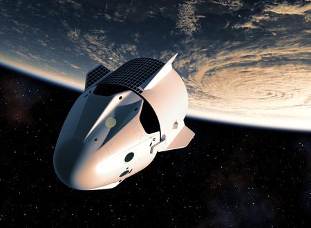 Erste kommerzielle Raumsonde, die den blauen Planeten Erde umkreist