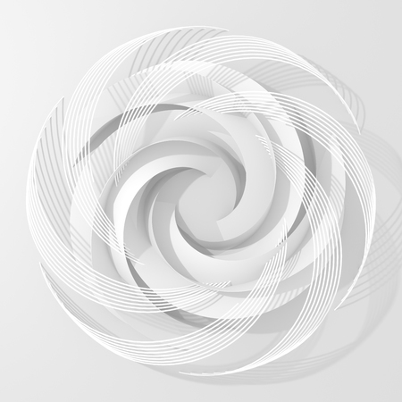 Circle Abstract Digital Flower On White Background