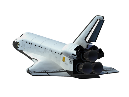 American Space Shuttle Isolated On White Background Stockfoto