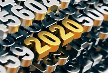 Digital Matrix From Metal Numbers With Golden Numbers 2020