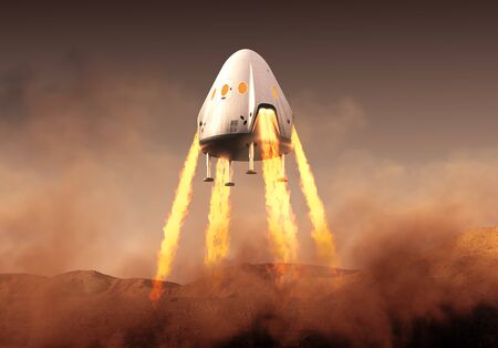 Private Spacecraft Module Lands On Planet Mars