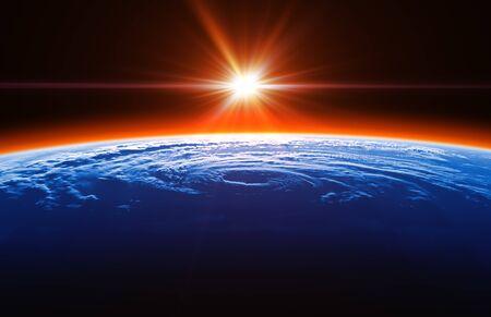 Beautiful Sunrise On The Background Of Big Hurricane