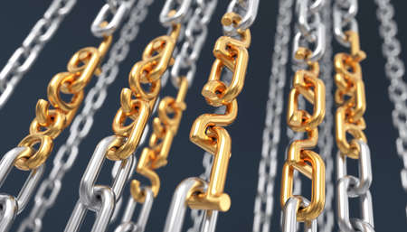 Chains With Gold Elements In The Form Of Digits Of Years