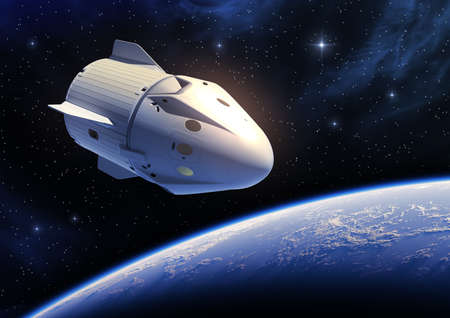 New Commercial Spacecraft Orbiting Blue Planet Earth