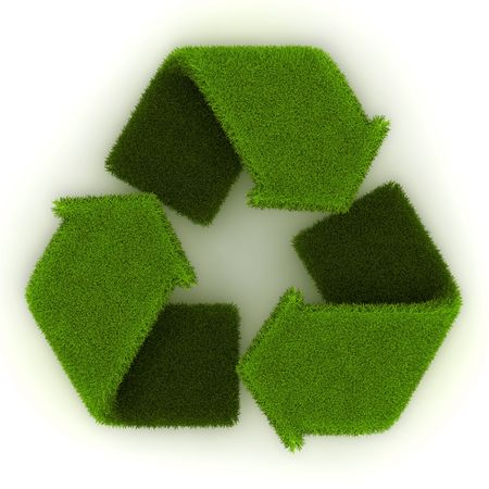 Recycling Symbol in Grass