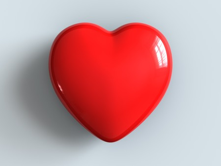 A plastic red heart