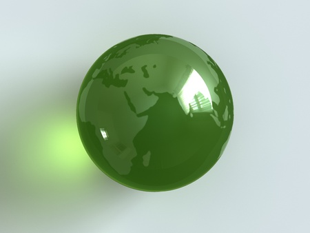 Earth as a glass marble. Stock Photo