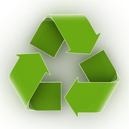 Green recycling symbol  Stock Photo