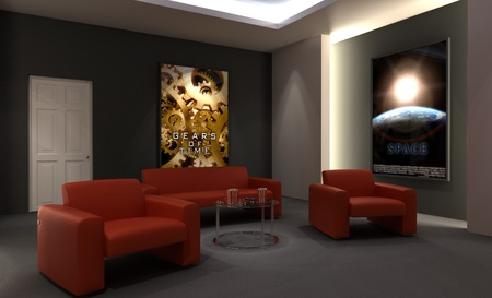 Home cinema room photo
