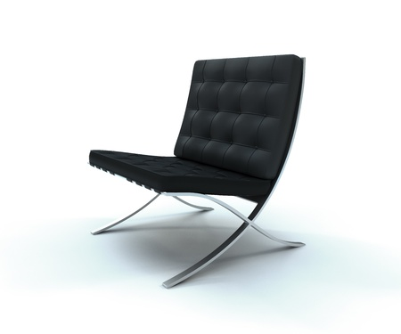 Studio shot of a Classic Leather Chair Stock Photo