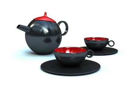 Studio shot of a ceramic CoffeeTea Pot Stock Photo