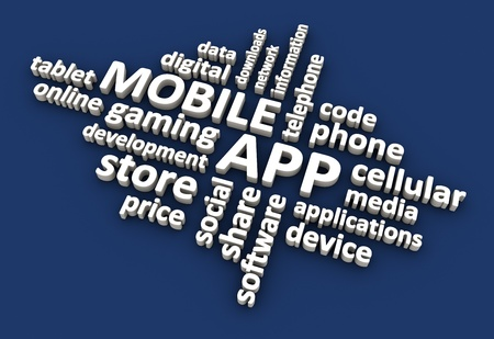 Mobile application related terms. Stock Photo - 19525242