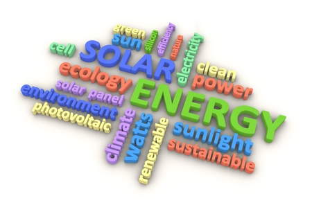 Solar energy related terms.