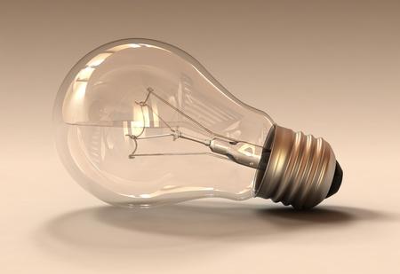 Studio shot of a light bulb Stock Photo