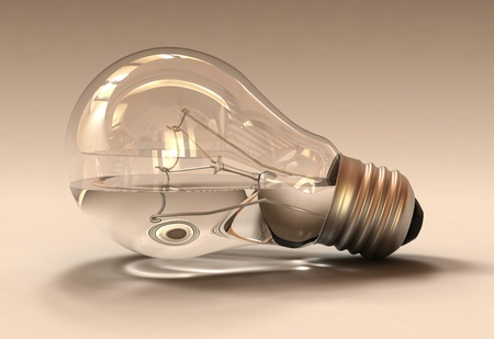 Studio shot of an water filled light bulb Stock Photo