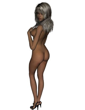Nude RD rendered girl photo
