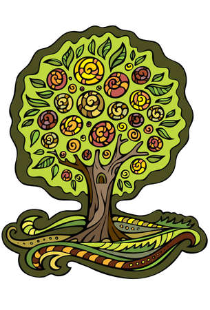 Stylize vector fantasy tree Vector