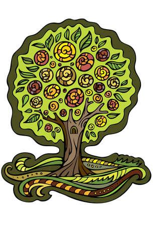 Stylize vector fantasy tree Stock Vector - 11255244