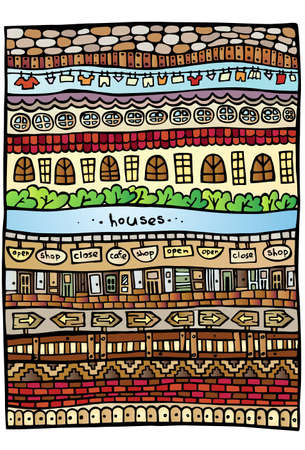 laying little: Houses elements design background