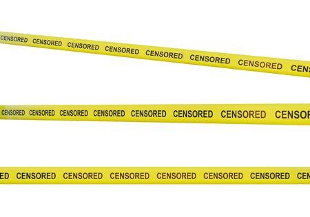 censorship tapes isolated on white, 3d render