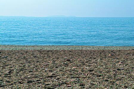 Glass beach located at Vladivostok, Russia, Japanese Sea