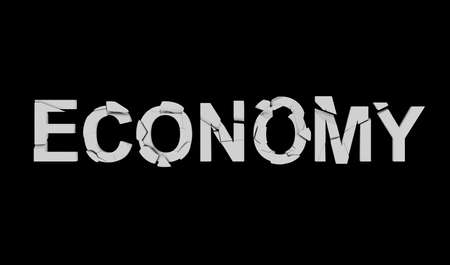 Broken economy, Financial crisis, Collapse in economy. Concept of the destruction of the country's economy, vector