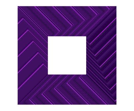 a purple wide metallic frame, 3d render Imagens