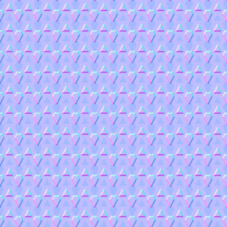 triangular abstract seamless pattern, light pink-blue triangles tiling texture