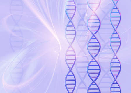 DNA molecules structure on light background. Science and Technology concept, 3d render