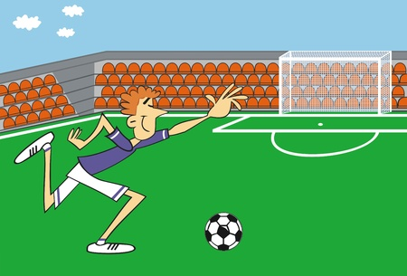footy: Illustration of soccer player
