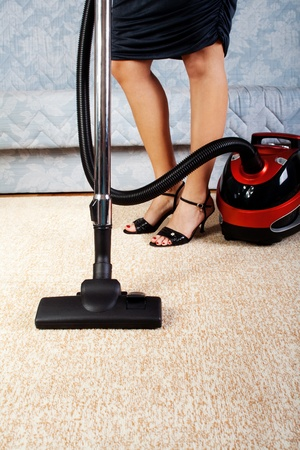 House work, vacuum cleaner, girl, home, kitchen  Housework  photo