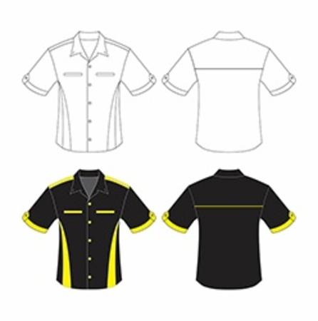 for men: Vector template shirt for men s Illustration