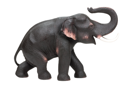 statuette: The elephant decorative statuette isolated on white background. Stock Photo