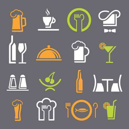 Different restaurant equipment icons