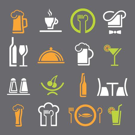 Different restaurant equipment icons