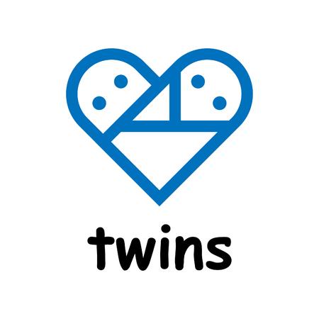 Twins icon on white background