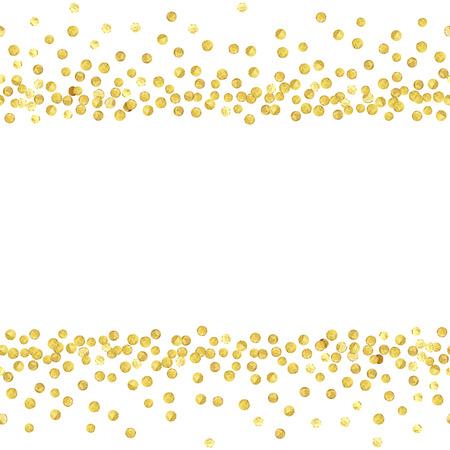 Gold dots line