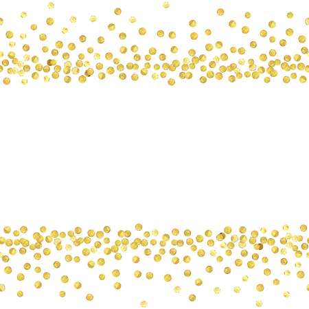 Gold dots line
