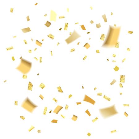 Golden Confetti blur tamplate Illustration.
