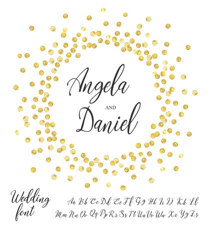 gold circle font