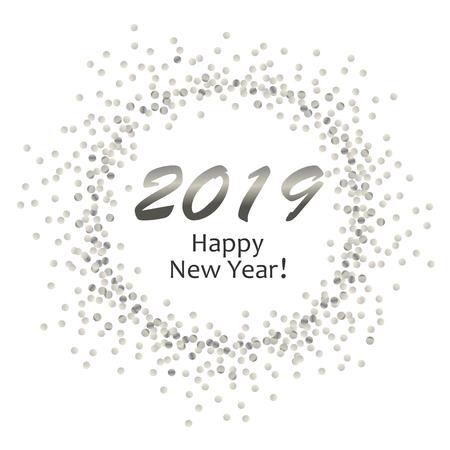 silver dots circle 2019 sr Иллюстрация