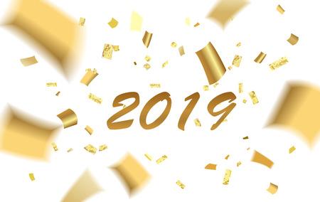 Confetti gold blur 2019